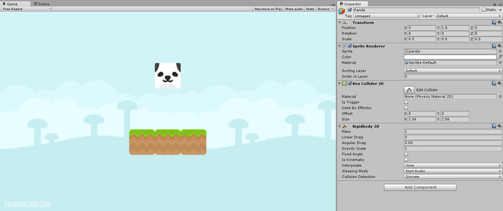 Simple 2D Physics Game with Unity (Part 2): Main Mechanics – 2D